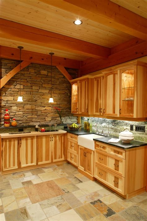 hickory kitchen cabinets  natural cabinetry fireplace