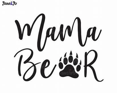 Mama Bear Svg Silhouette Clip Mom Clipart