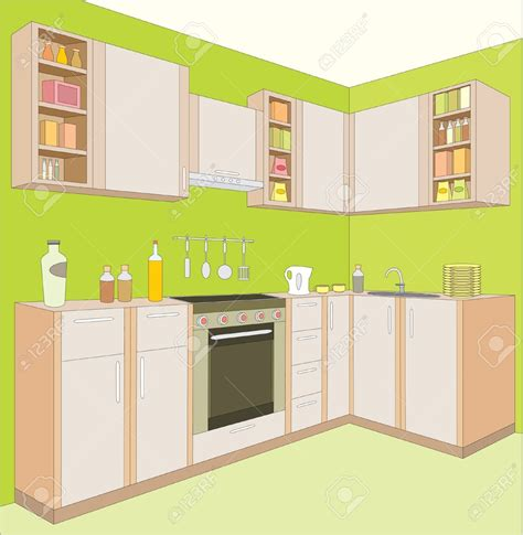 Clip Cucina by The Kitchen Clipart Dining Room Pencil And In Color The