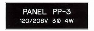 Control electrical panel labels carolina design for Electrical panel phenolic labels