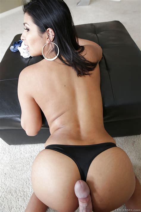 latina milf miya stone taking cumshot on ass and panties after doggy sex