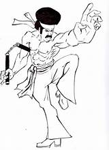 Dynamite Drawing Fan Male Figure Getdrawings Drawings Deviantart sketch template