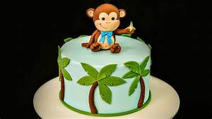 monkey birthday cake template - how to make a cheeky monkey cake topper caker school