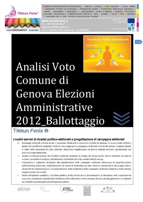 Ufficio Elettorale Genova - analisi voto comune di genova 2012 by tikkunfenix issuu