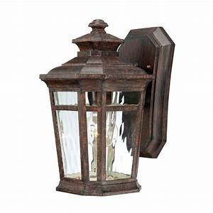 Hampton Bay Waterton Wall-Mount 1-Light Outdoor Lantern