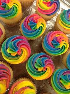 Get crazy with colour and decorate your vanilla cupcakes ...