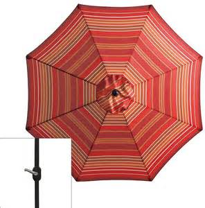 sonoma outdoors crank tilt striped patio umbrella never miss a sale