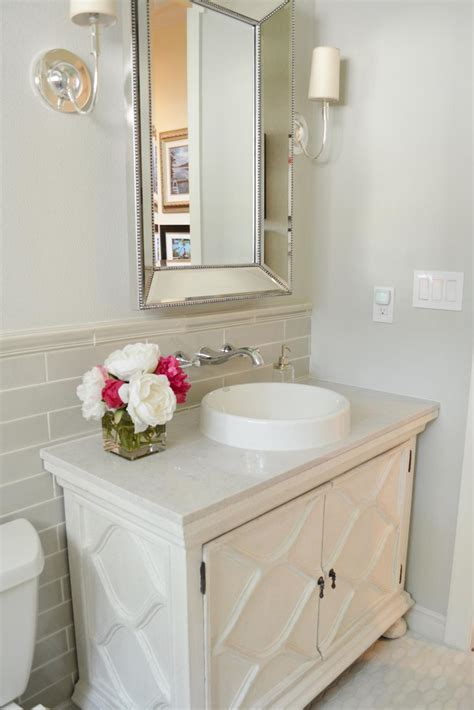Beforeandafter Bathroom Remodels On A Budget  Hgtv. Livingroom Decor. Slim Aarons Prints. Mosaic Tile Backsplash. Pink Bathroom. White Backsplash. Painted Chairs. Callisto Home. Coastal Living Room