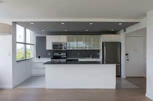 slate backsplashes for kitchens modern kitchen with one wall high ceiling in miami fl