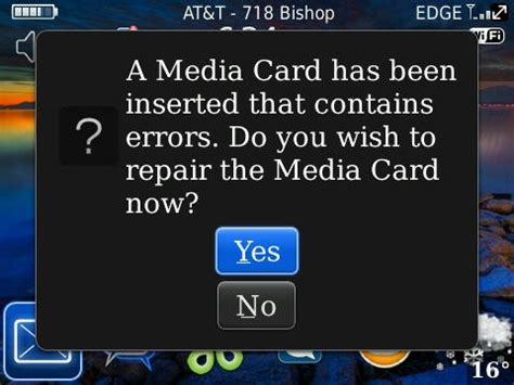 did you your blackberry memory card could repair
