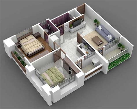 2 bhk house plan layout drawings plans bedroom bhc 2018