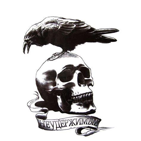 tatouage tete de mort tatouage temporaire ou ephemere d une tete de mort avec
