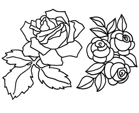 Ausmalbilder Rose Kostenlos