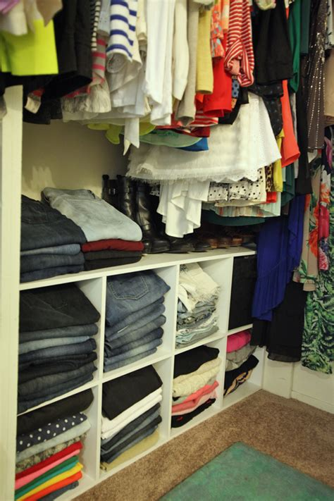 how to organize style your closet use cube shelves to