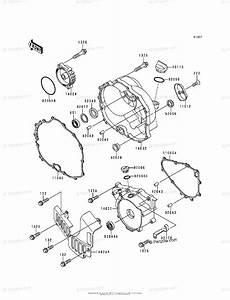 Kawasaki Atv 1992 Oem Parts Diagram For Engine Cover S