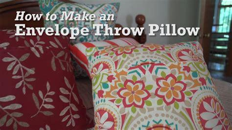 how to make throw pillows how to make an envelope throw pillow