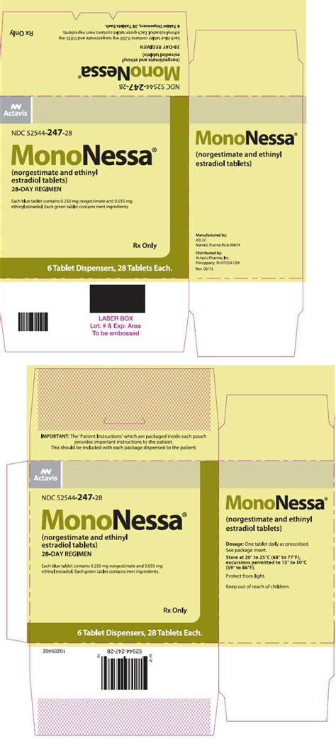 mononessa fda prescribing information side effects