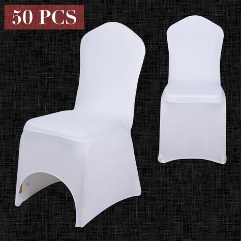 50pcs wholesale universal white chair cover spandex