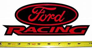 Ford Racing Logo! Very Bold! High Gloss Red on Black HQ ...