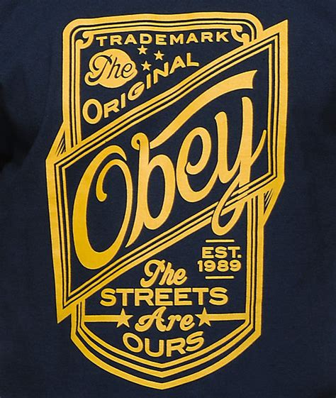 kaos pdp obey streets are ours navy t shirt zumiez