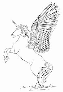 Unicorn with wings coloring page | Free Printable Coloring ...