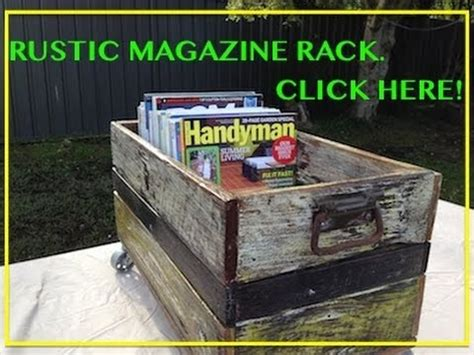awesome rustic magazine rack  cool pallet wood