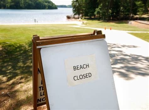 river forks park beach hall county closed due coli bacteria