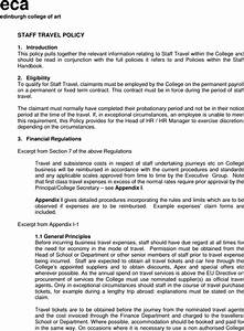 Staff Policy Template Download Travel Policy Templates For Free FormTemplate