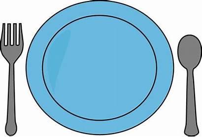 Plate Clip Dinner Utensils Dishes Graphics