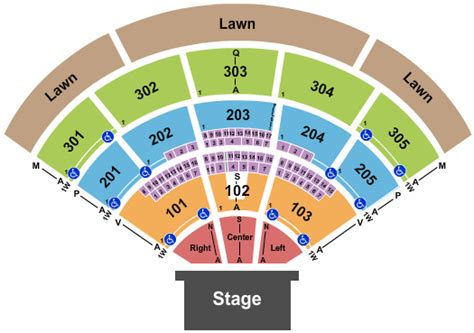 north island credit union amphitheatre seating chart