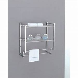 towel rack bathroom shelf organizer wall mounted over With bathroom towel racks and shelves