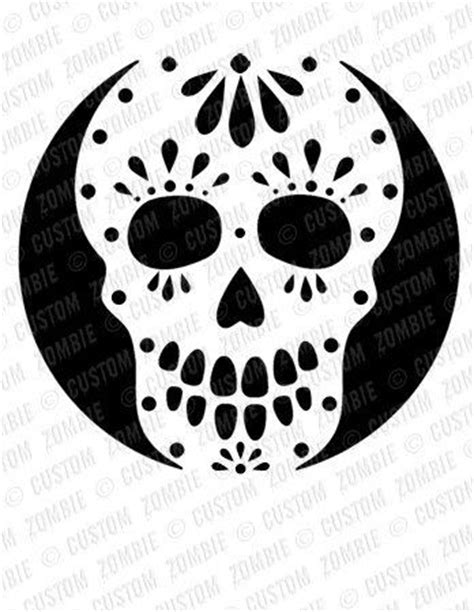 skull pumpkin carving templates pumpkin stencil sugar skull carving crafts by customzombie on imgfave