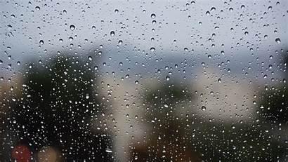 Rain Glass Surface Drops 4k Laptop Background
