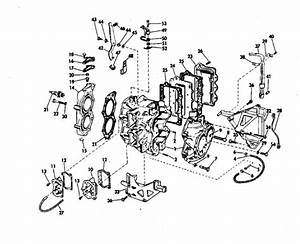 Johnson Cylinder  U0026 Crankcase Parts For 1971 20hp 20r71s