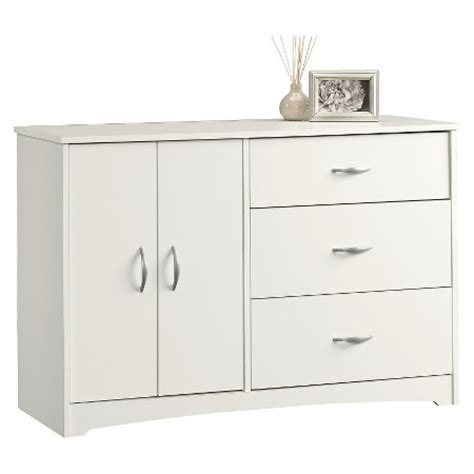 Sauder Beginnings Dresser White by Beginnings 3 Drawer Dresser With Door Adjustable