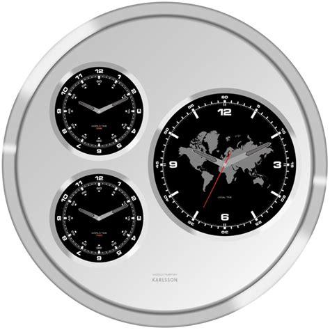 Big Tic World Time Wall Clock   Drinkstuff