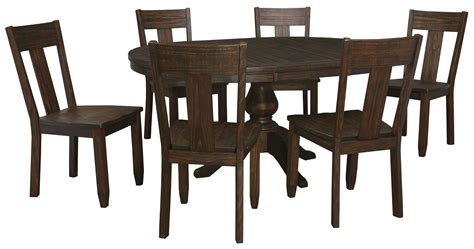 7 oval dining table set with wood seat side chairs