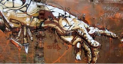 Graffiti Hands Anime Mural Street Desktop Abstract