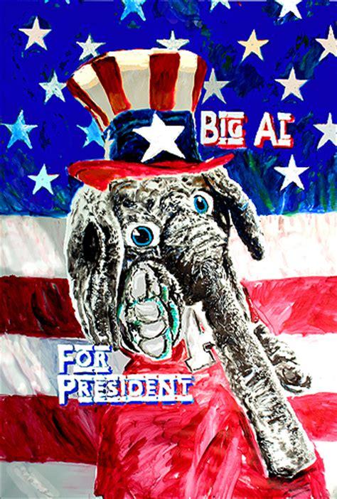 alabama big al crimson tide mascot  president art print