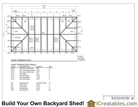 Hip Roof Plans by 10x20 Hip Roof Shed Plans