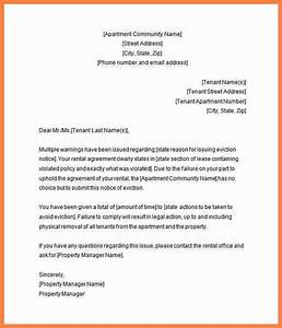6 rental eviction notice letter notice letter With rental eviction letter