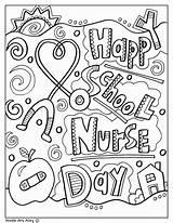 Coloring Nurse Pages Nursing Printables Nurses Week Appreciation Care Visit Much Perfect Way Celebration sketch template