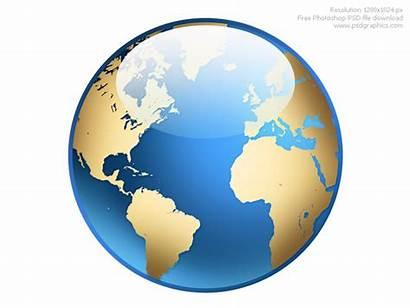 Globe Icon Clipart Photoshop Globes Psdgraphics Psd