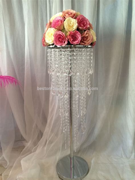 Wedding Table Crystal Chandelier Centrepiece View Table