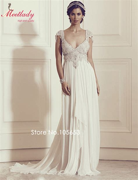 Vintage Lace Sweetheart Neck Backless Beach Wedding Dress