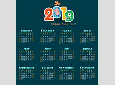 2017 2018 2019 calendar free vector download 1,594 Free