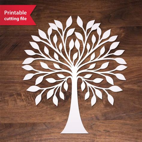 Laser Cut L Dxf by Laser Cut Tree Vector Teplate Svg Dxf Studio Tree Vector