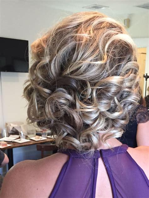 updo  shoulder length hair    bridesmaid