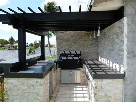 outdoor kitchen designs with pergolas pergola design ideas outdoor kitchen pergola stacked stone outdoor kitchen creations black and