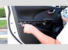DIY Honda Fit Front Door Panel Removal YouTube